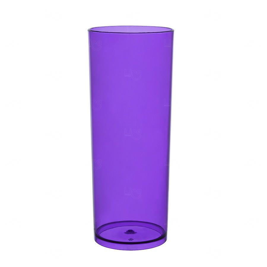 Copo Long Drink Personalizado - 350 ml (Leitoso ou Cristal) Roxo
