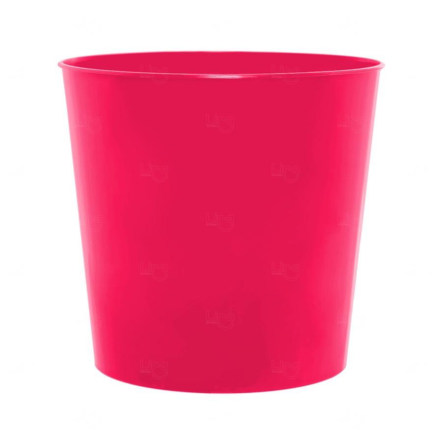 Balde De Pipocas Personalizado - 2,6 L Rosa