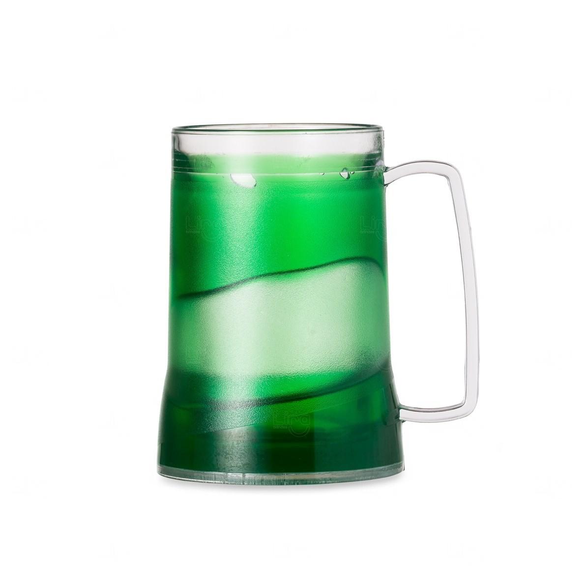 Caneca Personalizada Acrílica Com Gel Colorido Verde
