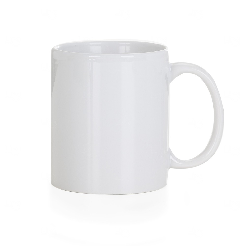 Caneca De Cerâmica Clássica Personalizada - 300 ml Branco