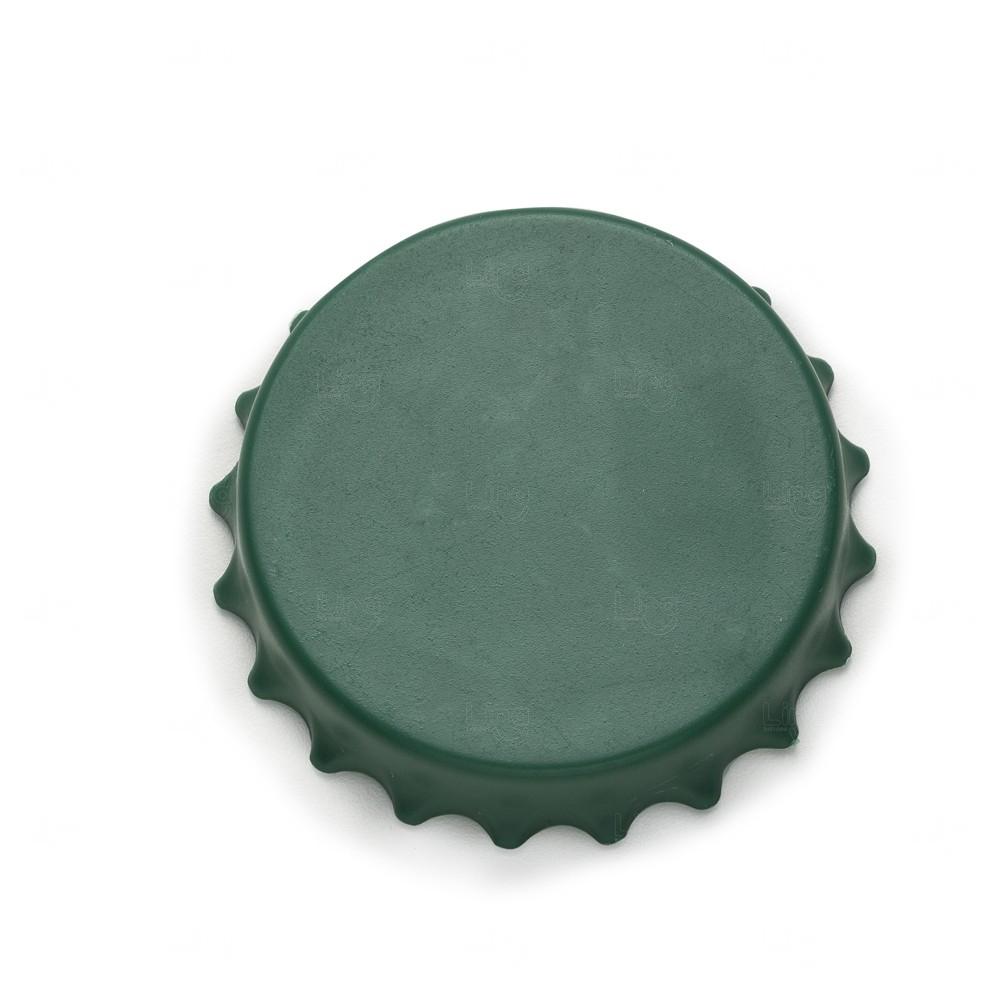Abridor De Garrafa Personalizado Formato Tampa C/ Imã Verde