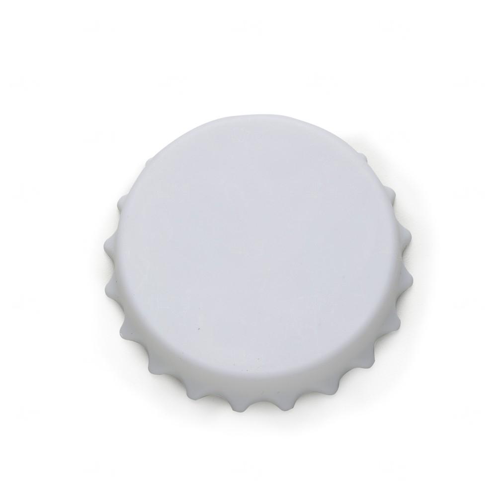 Abridor De Garrafa Personalizado Formato Tampa C/ Imã Branco