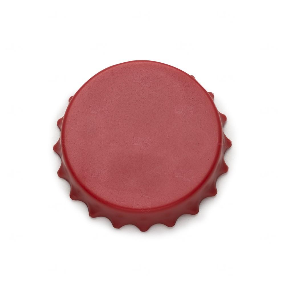 Abridor De Garrafa Personalizado Formato Tampa C/ Imã Vermelho