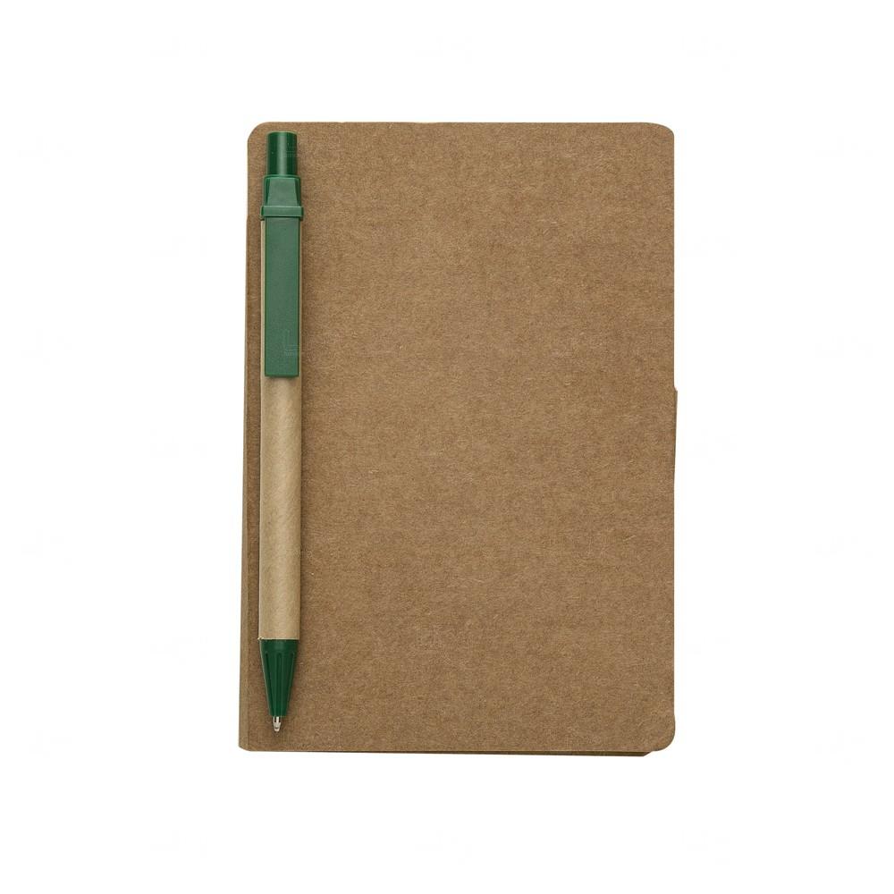 Bloco De Anotações Post-It e Caneta Personalizado - 15,5 x 10 cm Verde