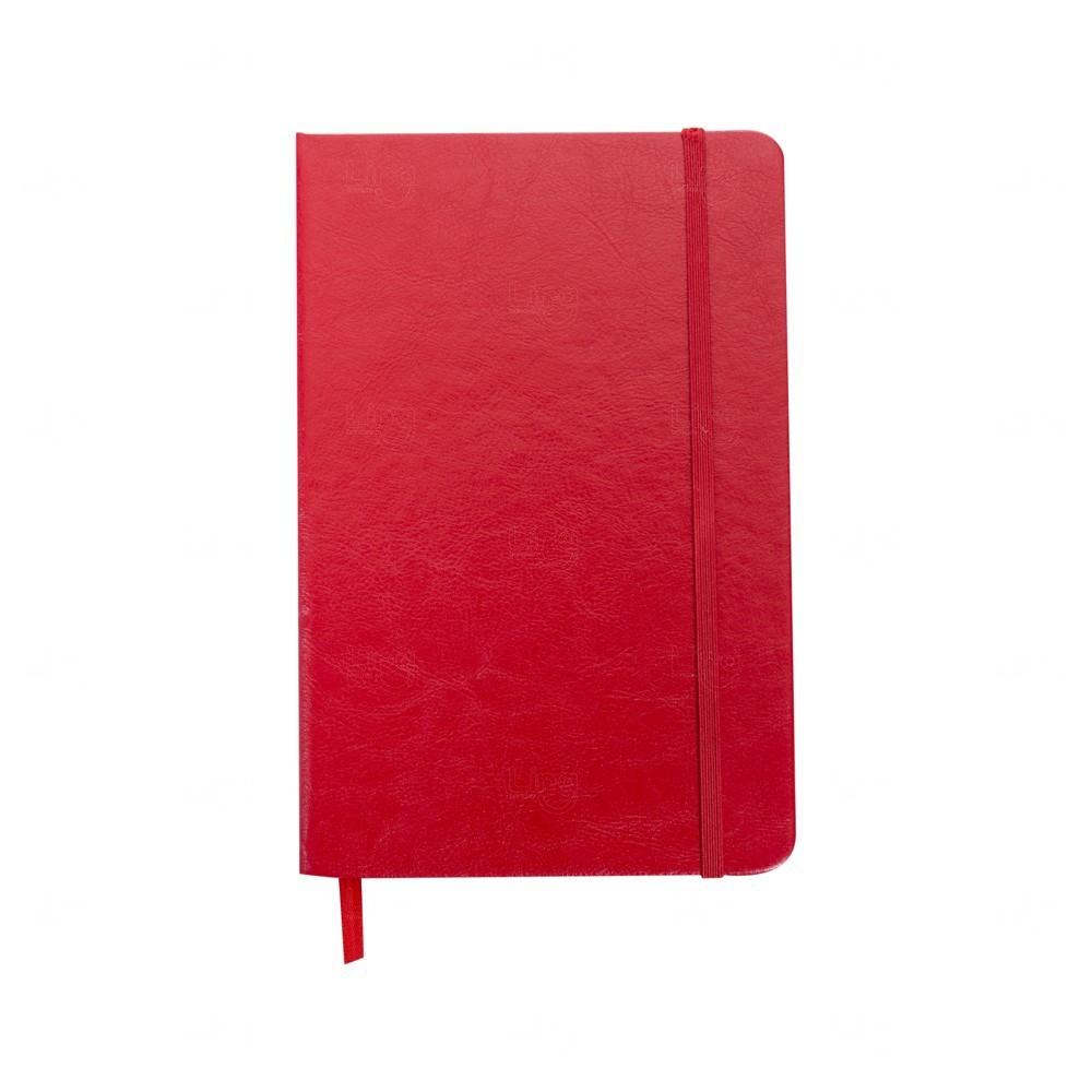 Caderno Tipo Moleskine C/ Pauta Personalizado Vermelho