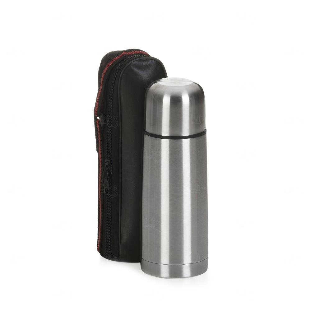Mini Garrafa Térmica de Inox Personalizada - 350 Ml Inox
