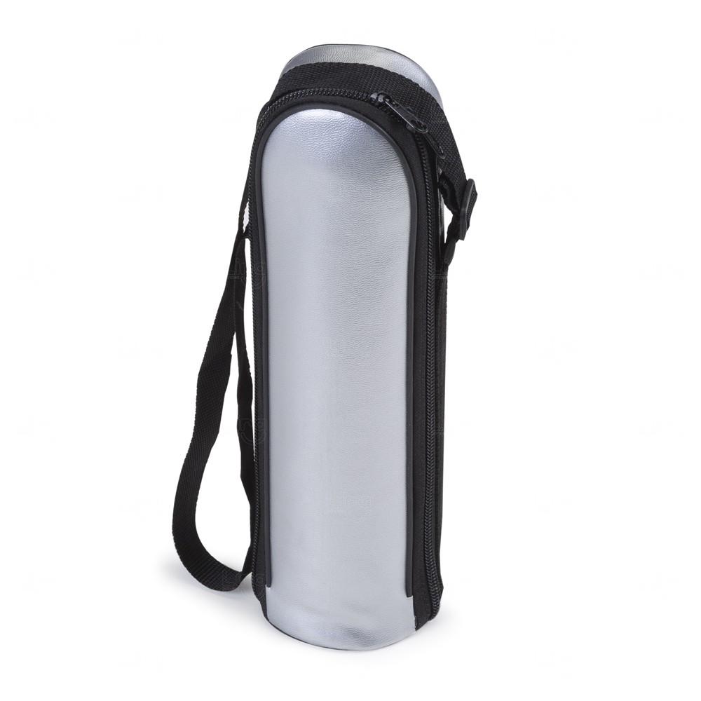 Garrafa Térmica Com Capa Personalizada - 500 ml Prata