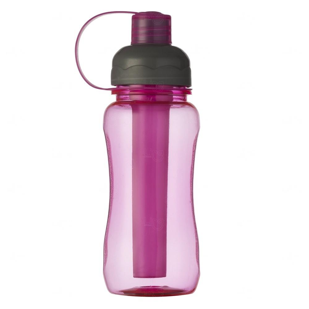 Squeeze Plástica IceBar Personalizada - 400 ml Rosa