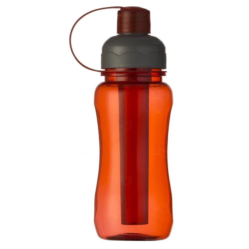 Squeeze Plástica IceBar Personalizada - 400 ml Vermelho