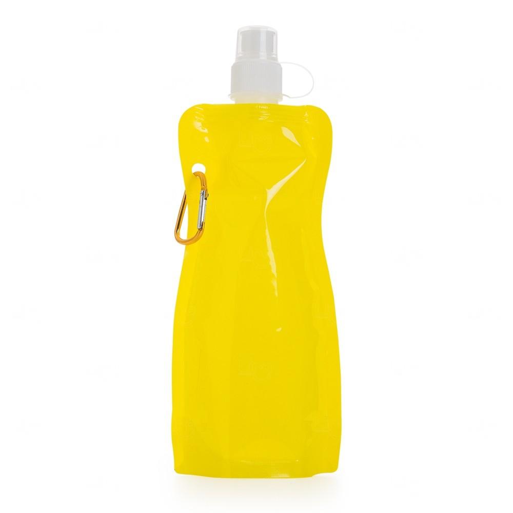 Squeeze Dobravel Mosquetão Personalizada 480ml Amarelo