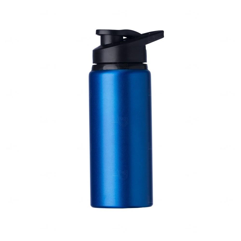 Squeeze Alumínio Fosca Personalizada - 600ML Azul