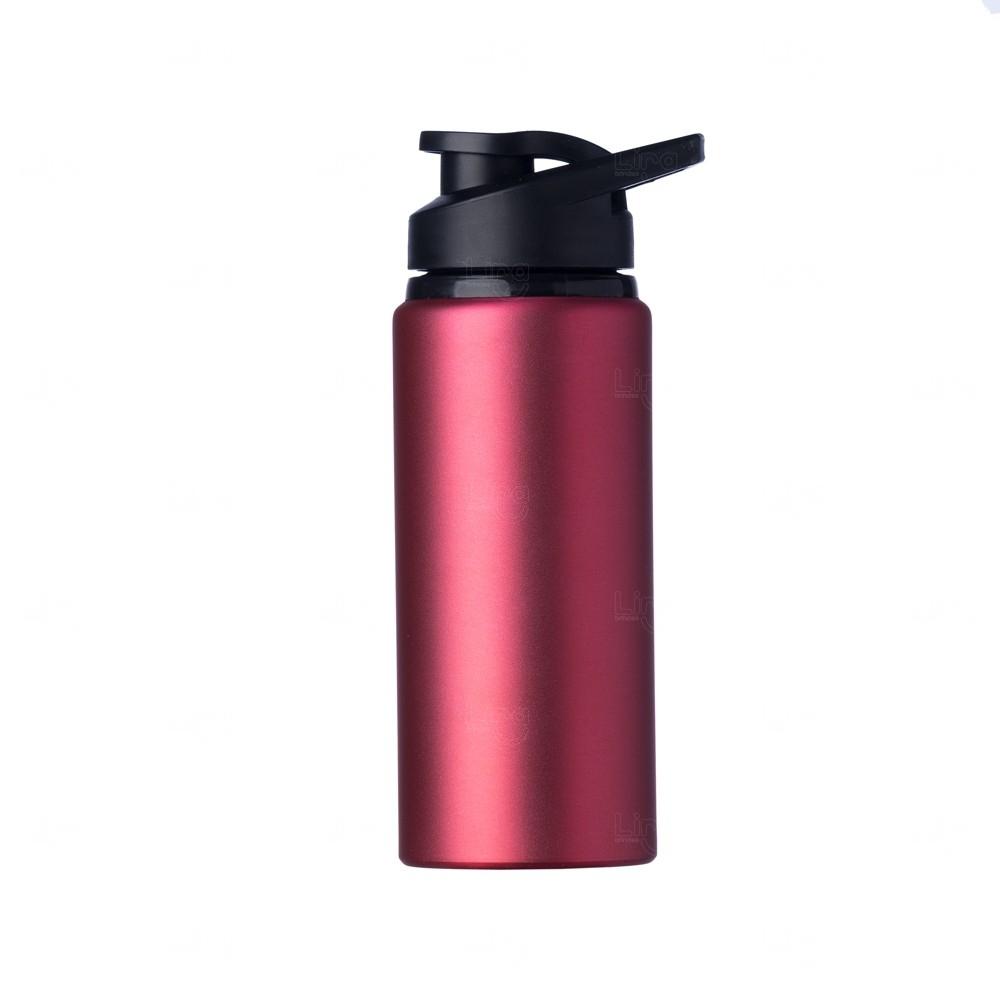 Squeeze Alumínio Fosca Personalizada - 600ML Rosa