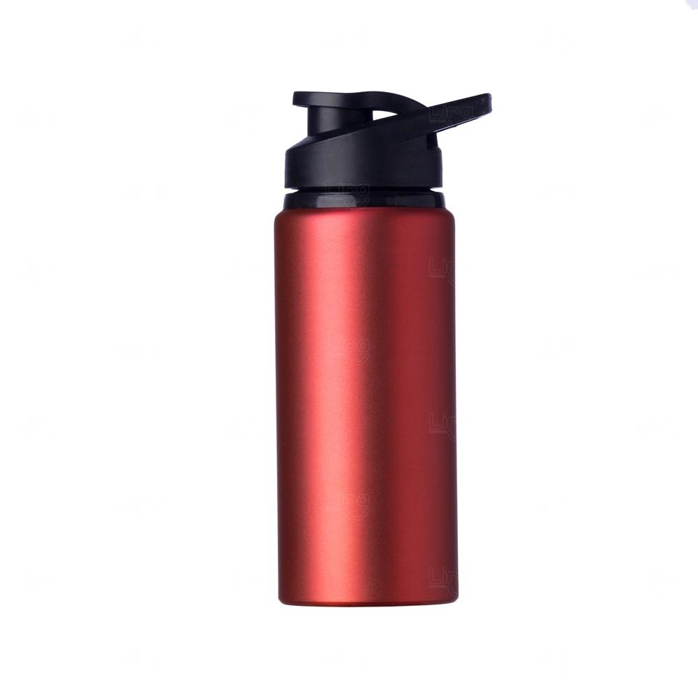 Squeeze Alumínio Fosca Personalizada - 600ML Vermelho