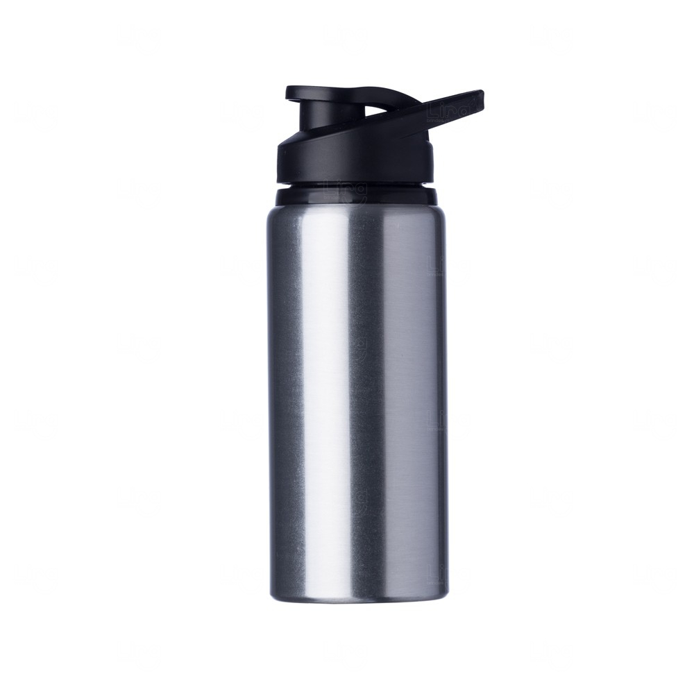 Squeeze Alumínio Fosca Personalizada - 600ML Prata