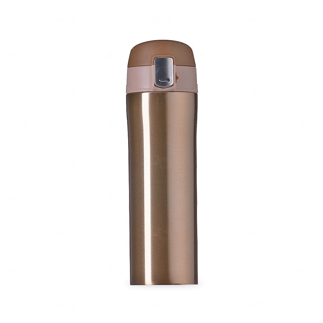 Garrafa Térmica 450 Ml C/ Trava Personalizada Dourado