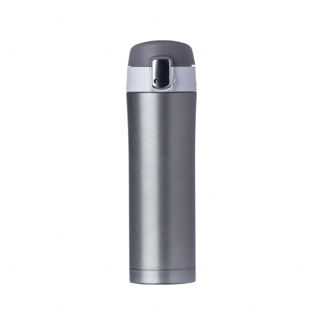 Garrafa Térmica 450 Ml C/ Trava Personalizada Chumbo