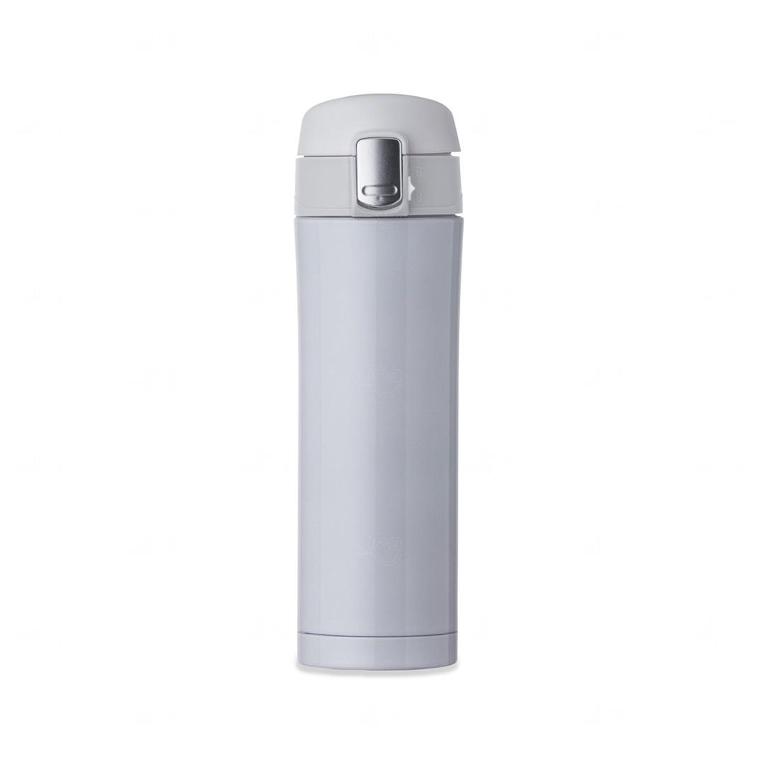 Garrafa Térmica 450 Ml C/ Trava Personalizada Branco