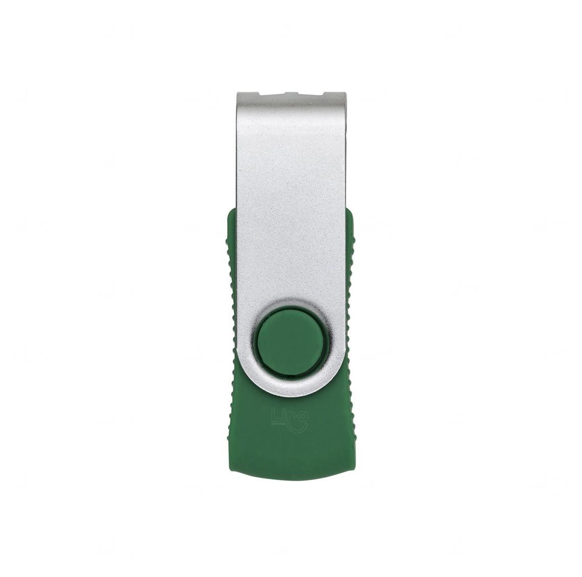 Pen Drive 8 Gb Com Tampa Giratória Verde
