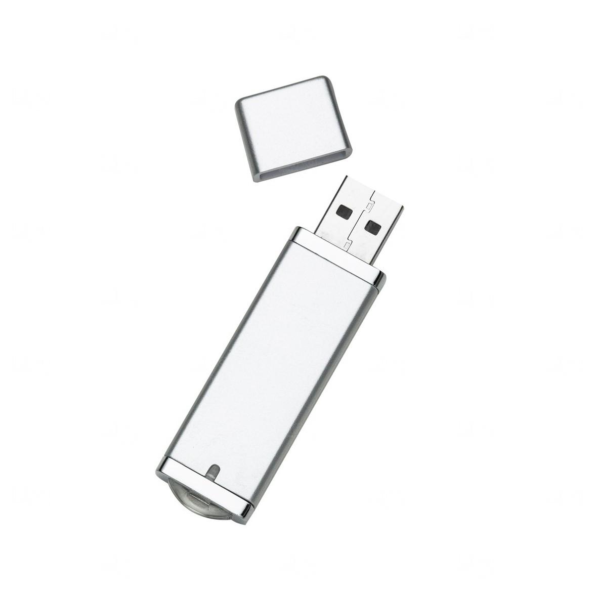 Pen Drive Com Tampa Personalizado - 4GB Prata