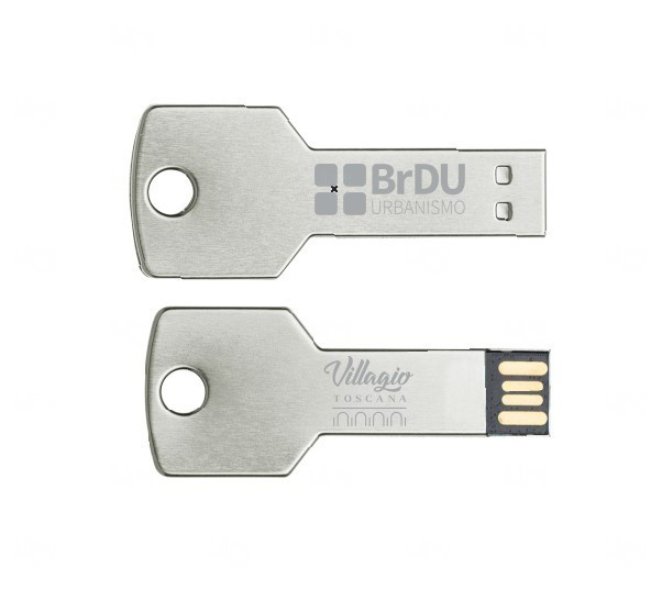 Pen Drive Chave Personalizado - 4 GB Prata