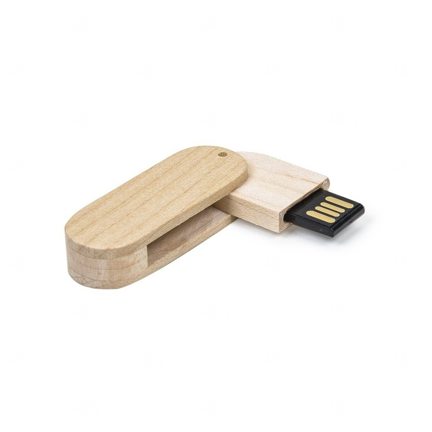 Pen Drive Personalizado Bambu Giratório - 4GB Bambu
