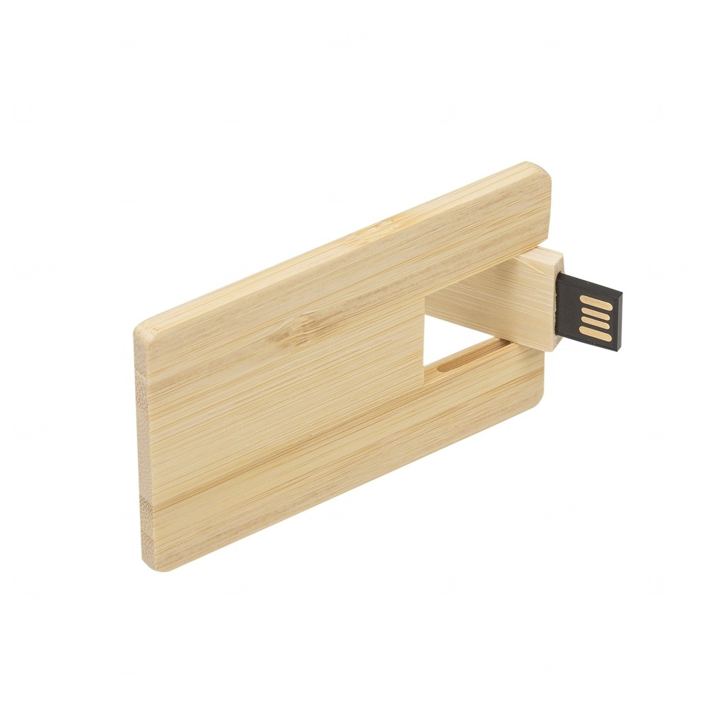 Pencard De Madeira Personalizado - 4 GB
