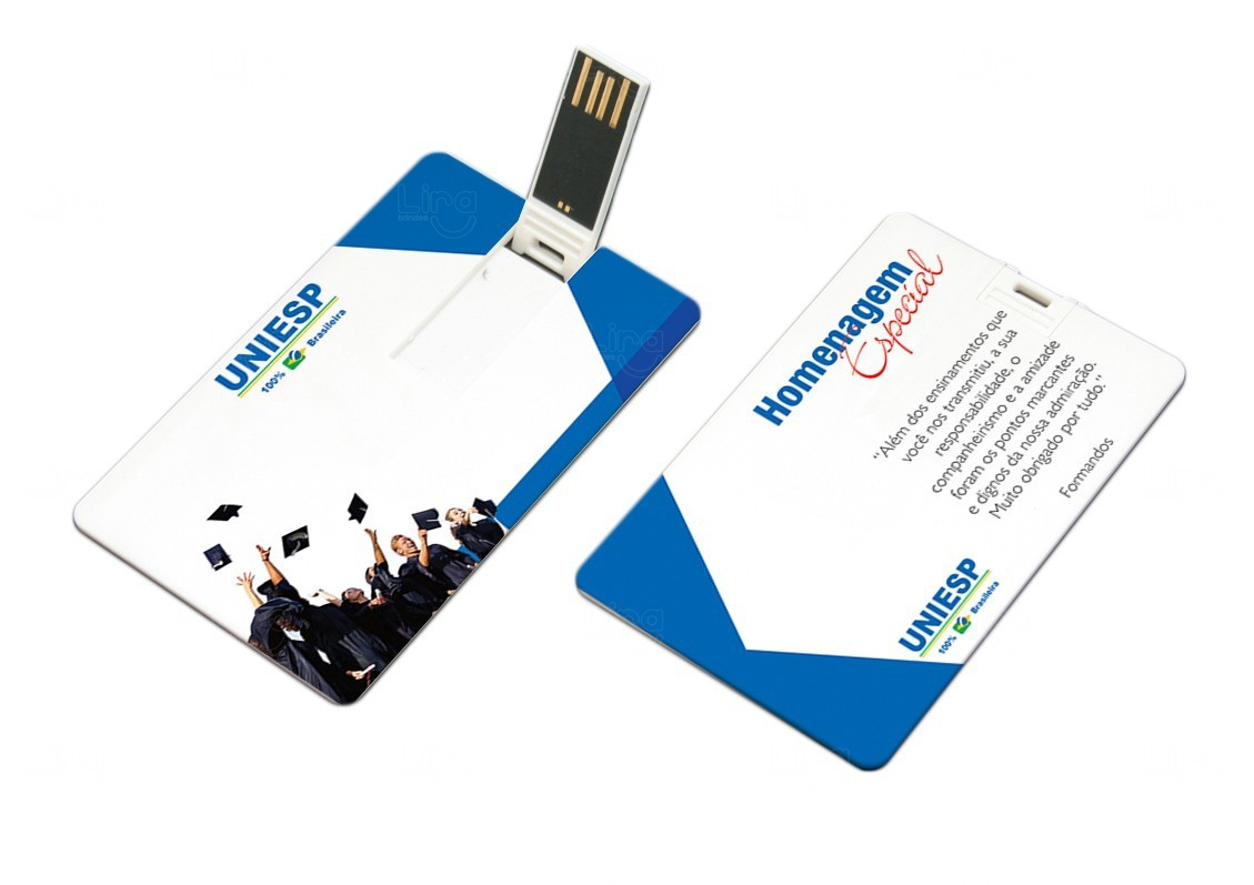 Pen Card Personalizado - 4 GB Azul