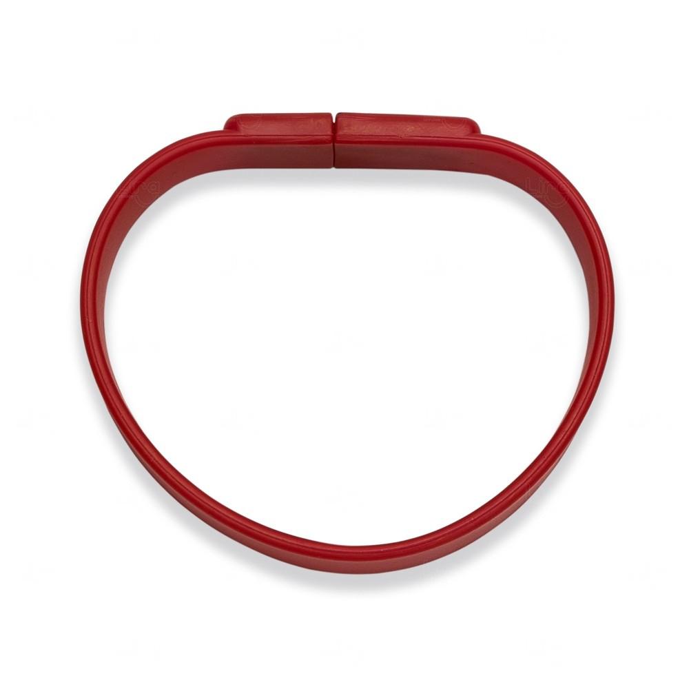 Pulseira Pen Drive Personalizada - 4 GB Vermelho