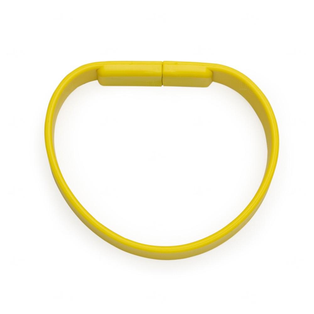 Pulseira Com Slot Para Memória COB Personalizada Amarelo