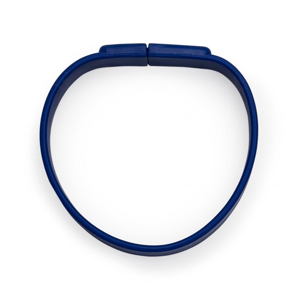 Pulseira Com Slot Para Memória COB Personalizada Azul