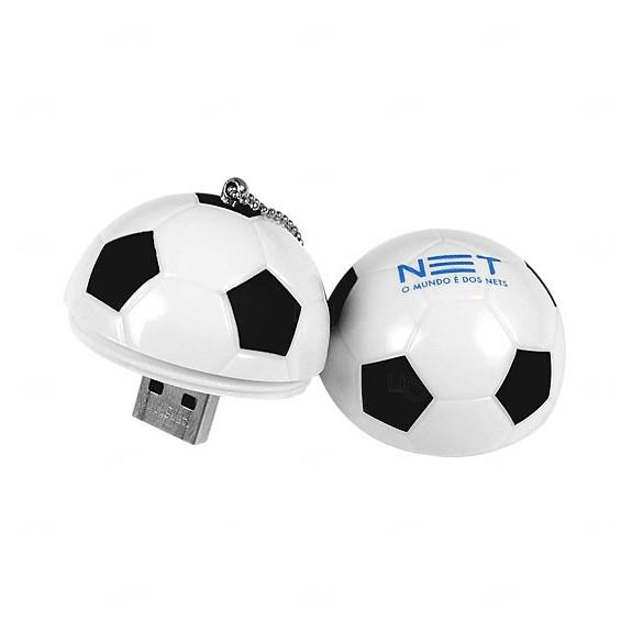 Pen Drive Bola De Futebol Personalizado - 4GB Branco