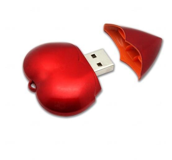 Pen Drive Coração Personalizado - 4GB