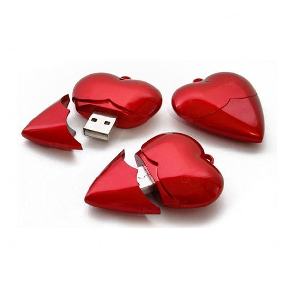 Pen Drive Coração Personalizado - 4GB Vermelho