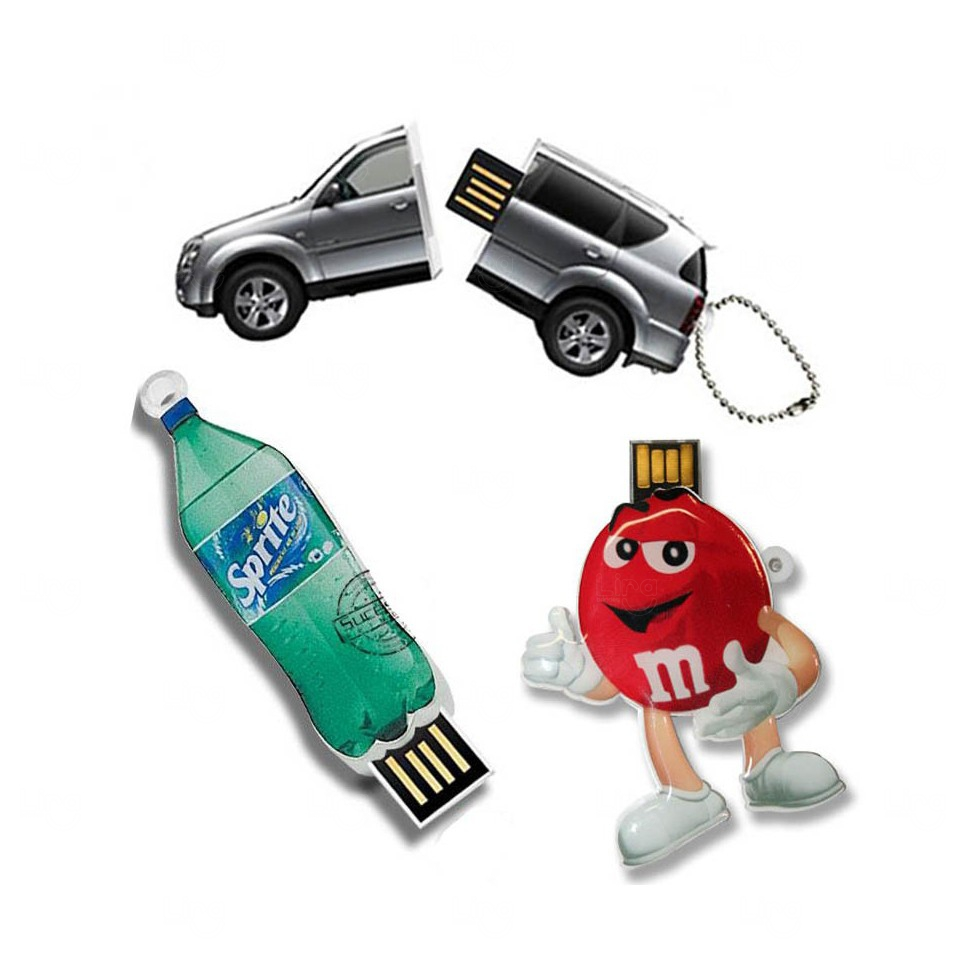 Pen Drive 2D Acrílico Personalizado - 4 GB