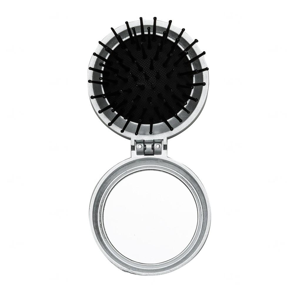 Escova com Espelho Personalizado Prata