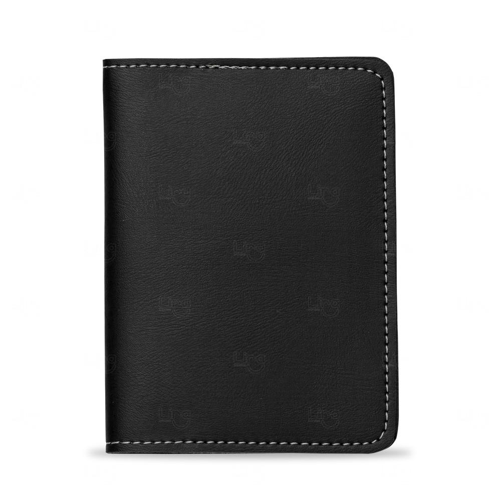Porta Passaporte Bidins Personalizado Preto