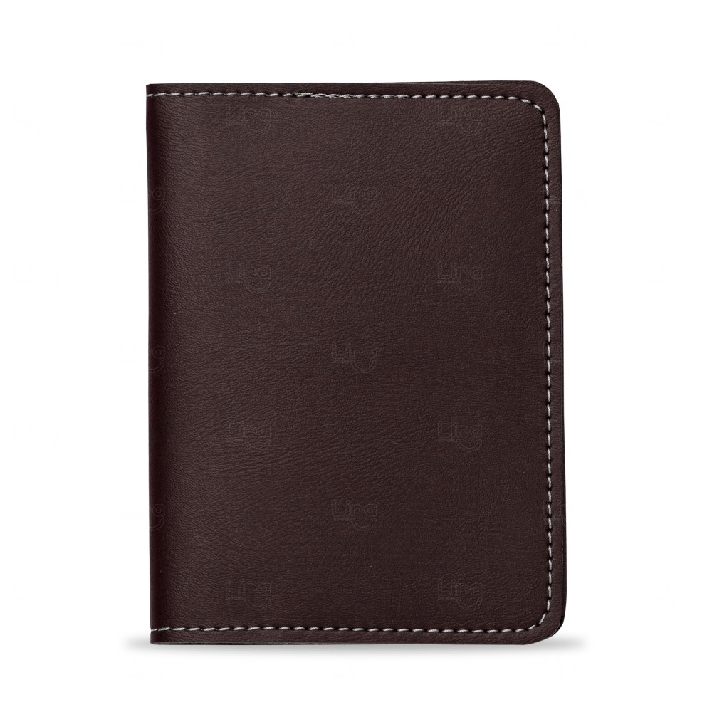 Porta Passaporte Bidins Personalizado Marrom