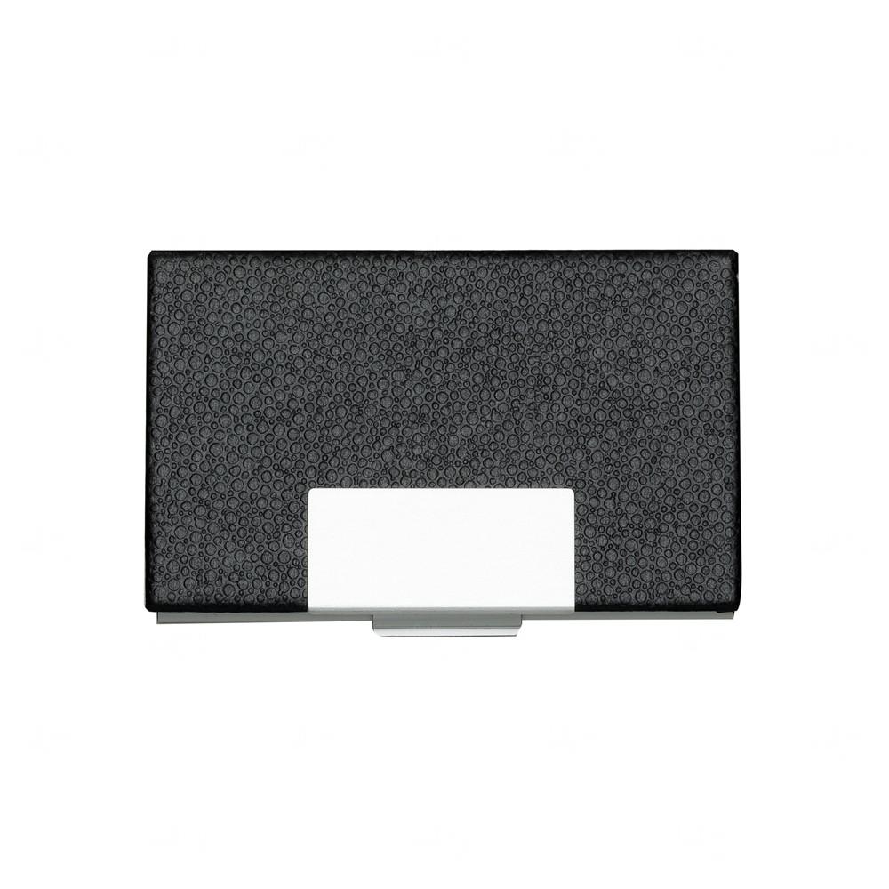 Porta Cartão de Couro Personalizado Preto
