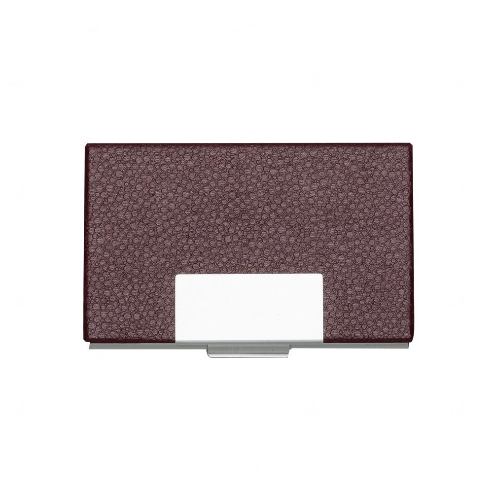 Porta Cartão de Couro Personalizado Vermelho