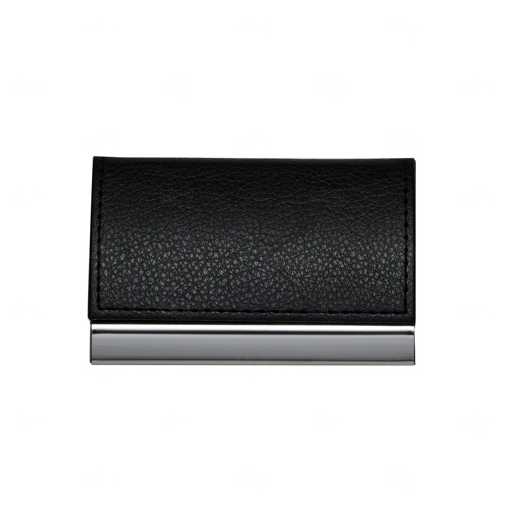 Porta Cartão De Metal Personalizado Preto