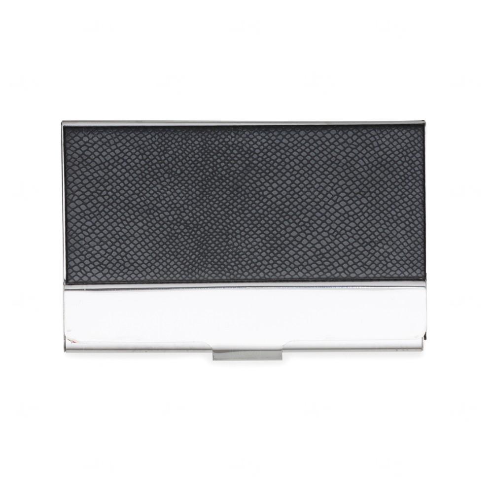 Porta Cartão De Couro Texturizado  Preto