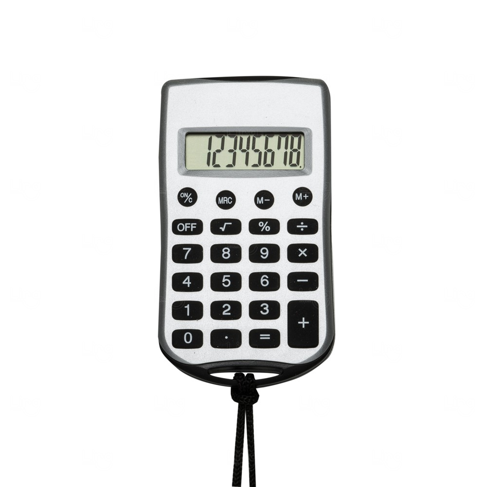 Calculadora Retangular Personalizada com Cordão Preto