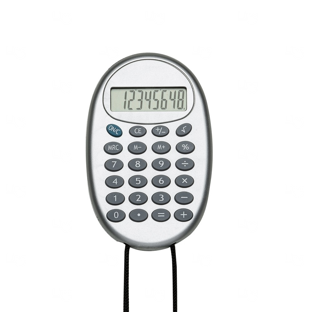 Calculadora Oval Personalizada com Cordão Preto