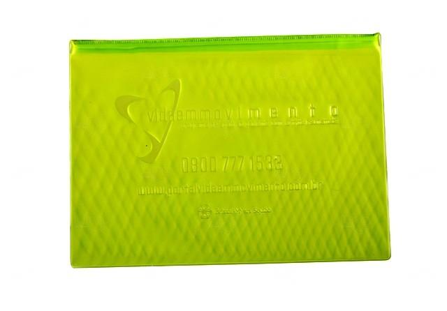 Pasta Zip Zap Personalizada Verde