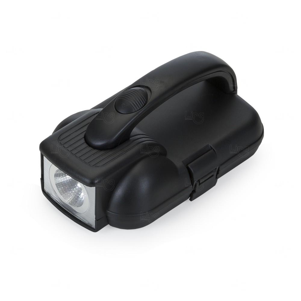 Kit Ferramentas com Lanterna Personalizado Preto