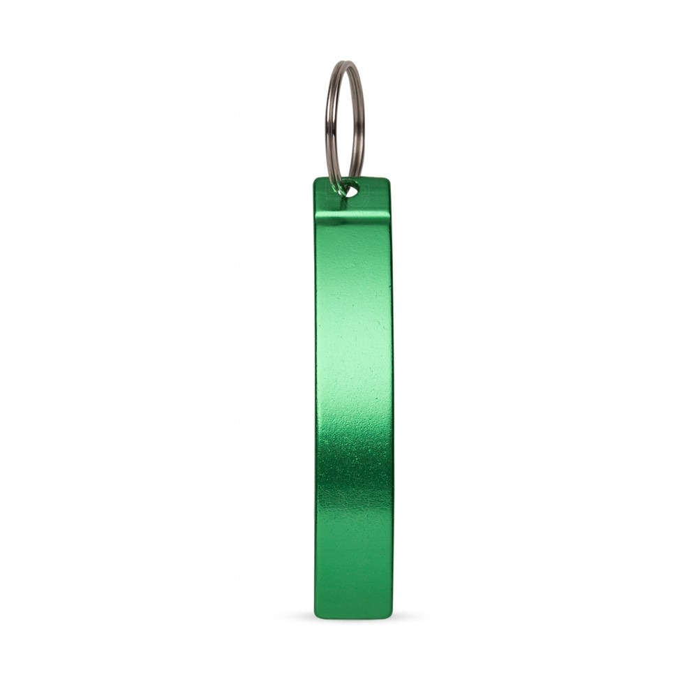 Abridor de Metal c/ Chaveiro Personalizado Verde