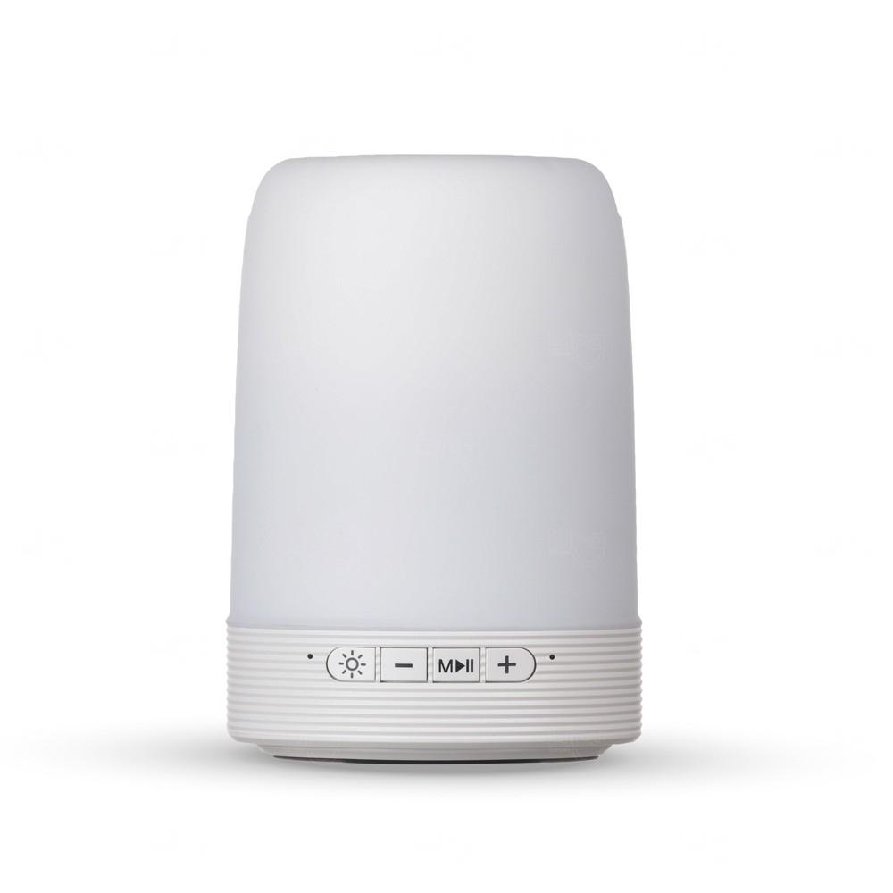 Luminária Caixa De Som Personalizada Branco