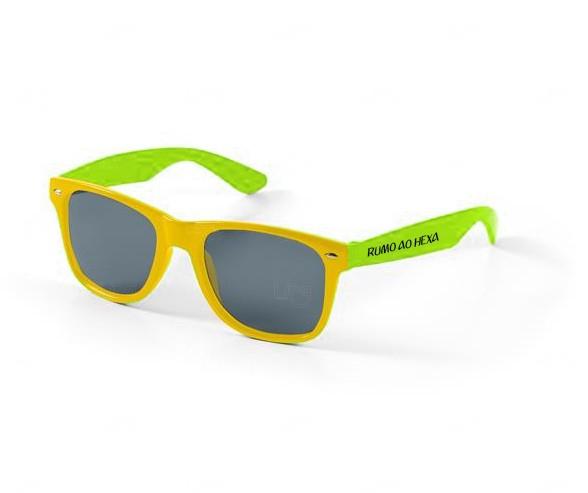 Óculos Reticulado Yoga Personalizado Verde