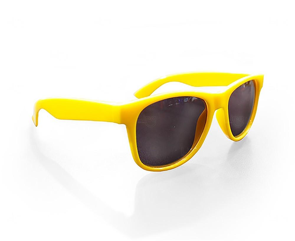 Óculos Reticulado Yoga Personalizado Amarelo