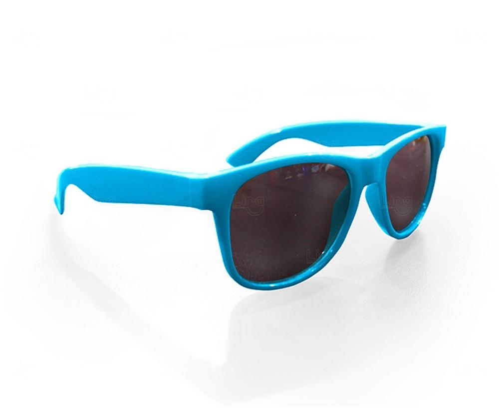 Óculos Reticulado Yoga Personalizado Azul Claro